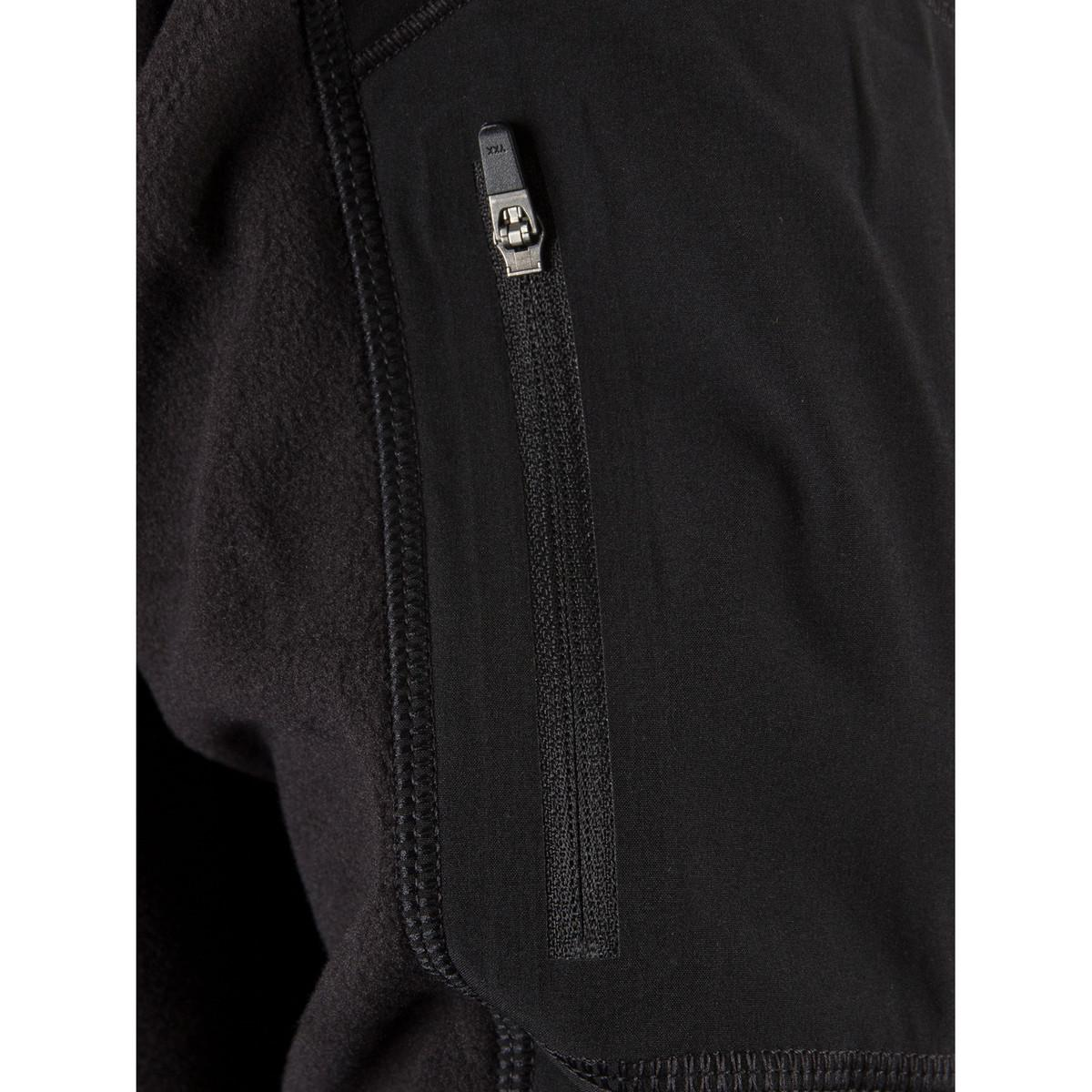 The North Face Men's Glacier Delta 1/4 Zip Jacket, Black Men's In Black for Men