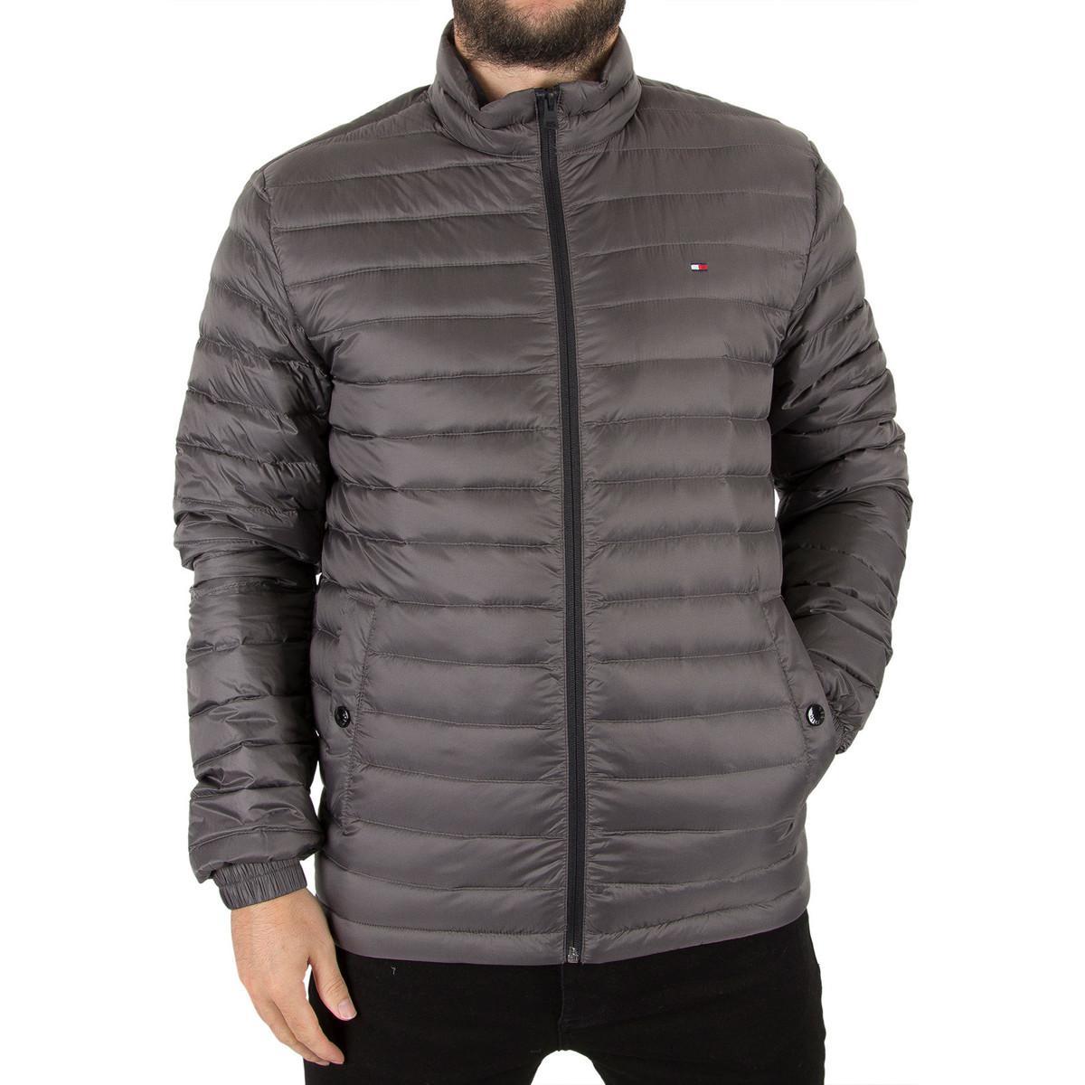 Tommy Hilfiger Men S Packable Down Bomber Jacket Grey Men