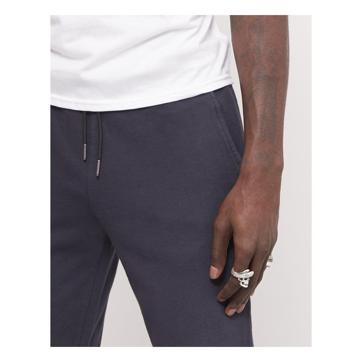Farah Shaldon Jersey Jogger Black Men's Trousers In Black for Men