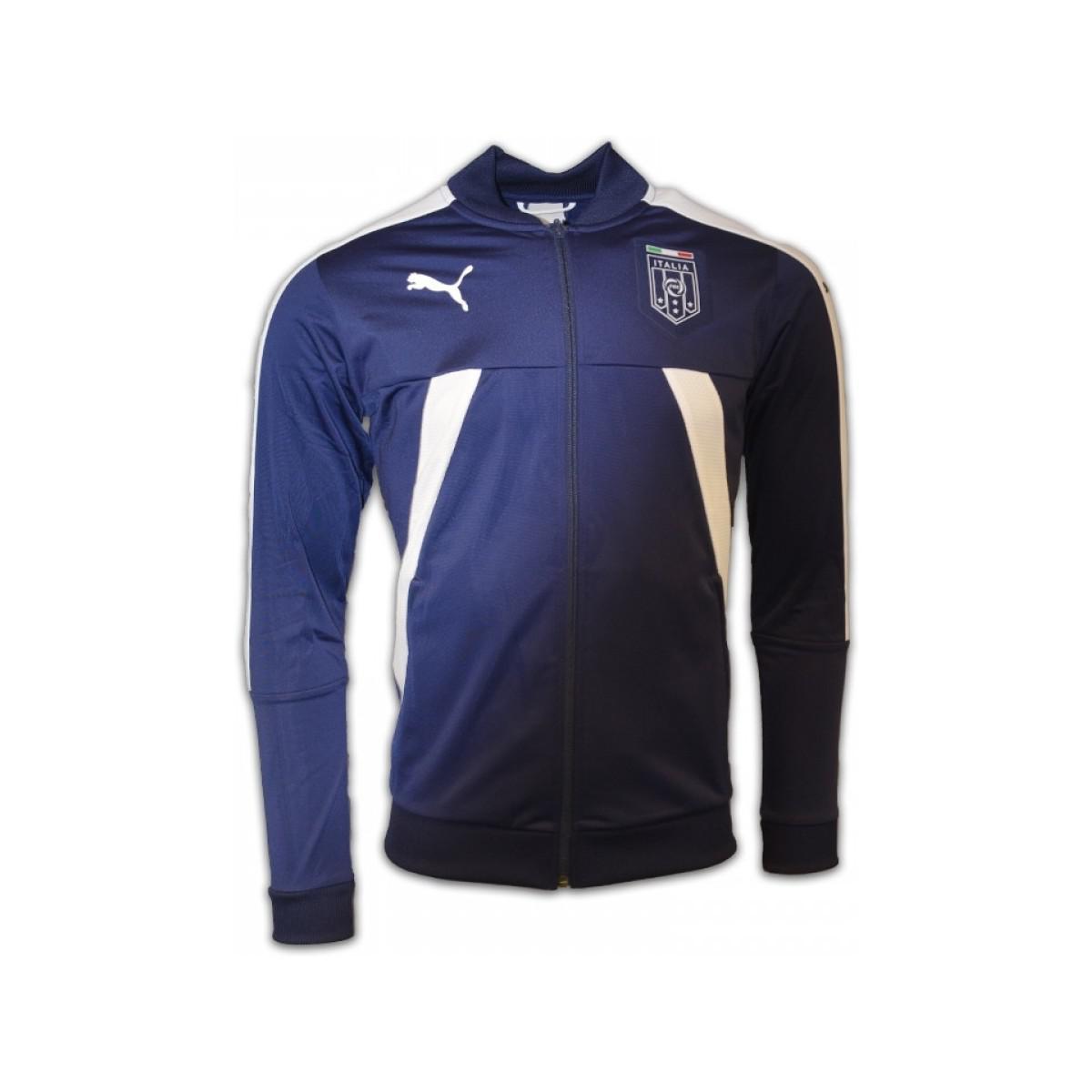 eff4b98e3cc4 Puma 2016-2017 Italy Stadium Jacket (peacot) - Kids Women s In Blue ...