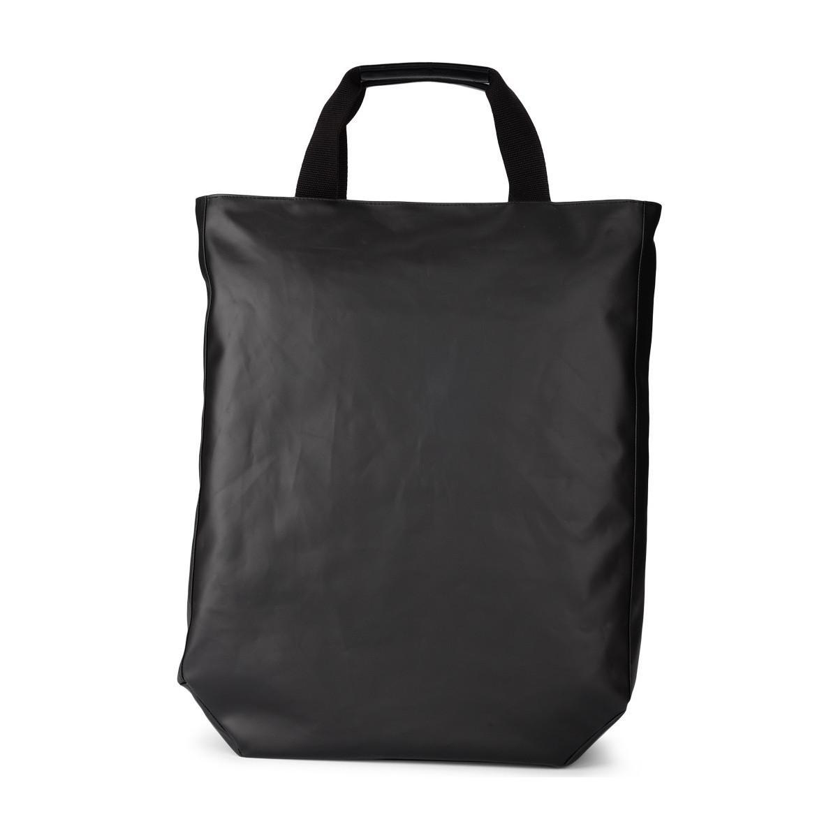 Y-3 Canvas Logo Tote Bag in Black for Men