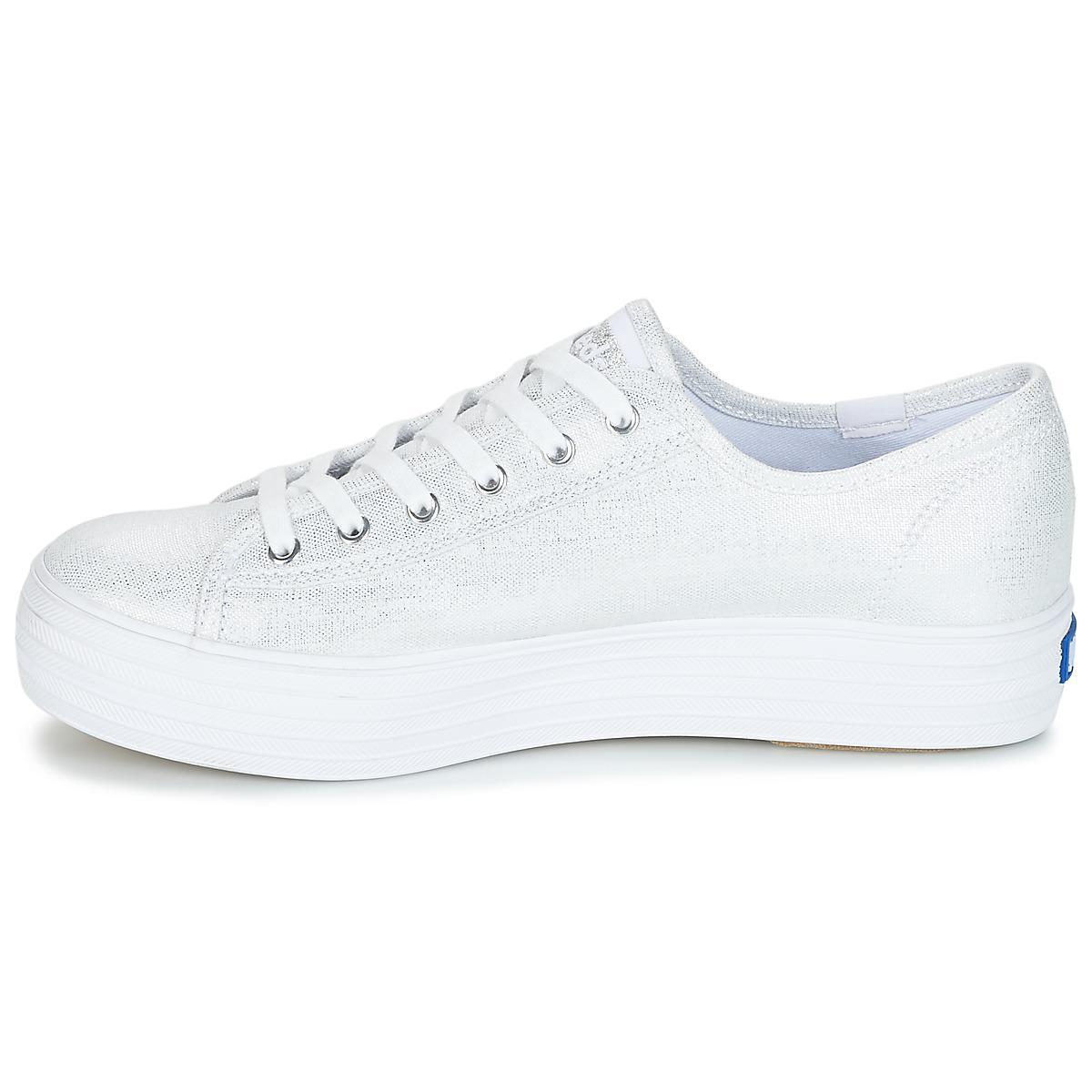 Keds Triple Kick Metallic Linen Shoes (trainers)