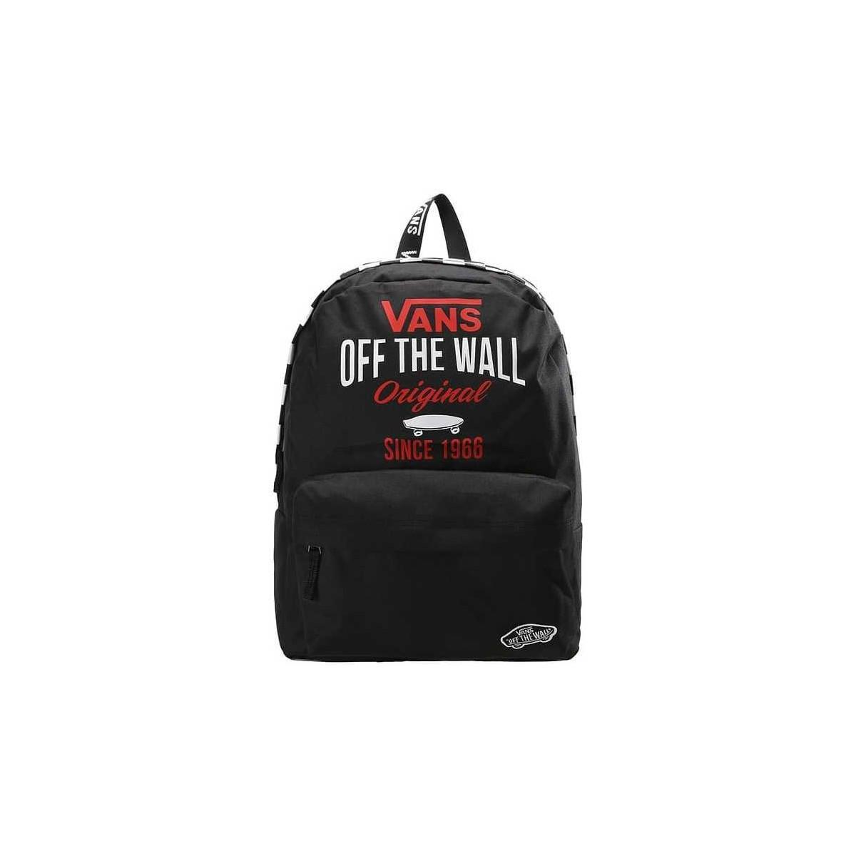 ec41f8fef41d5d Vans Realm Backpack Black Canvas- Fenix Toulouse Handball
