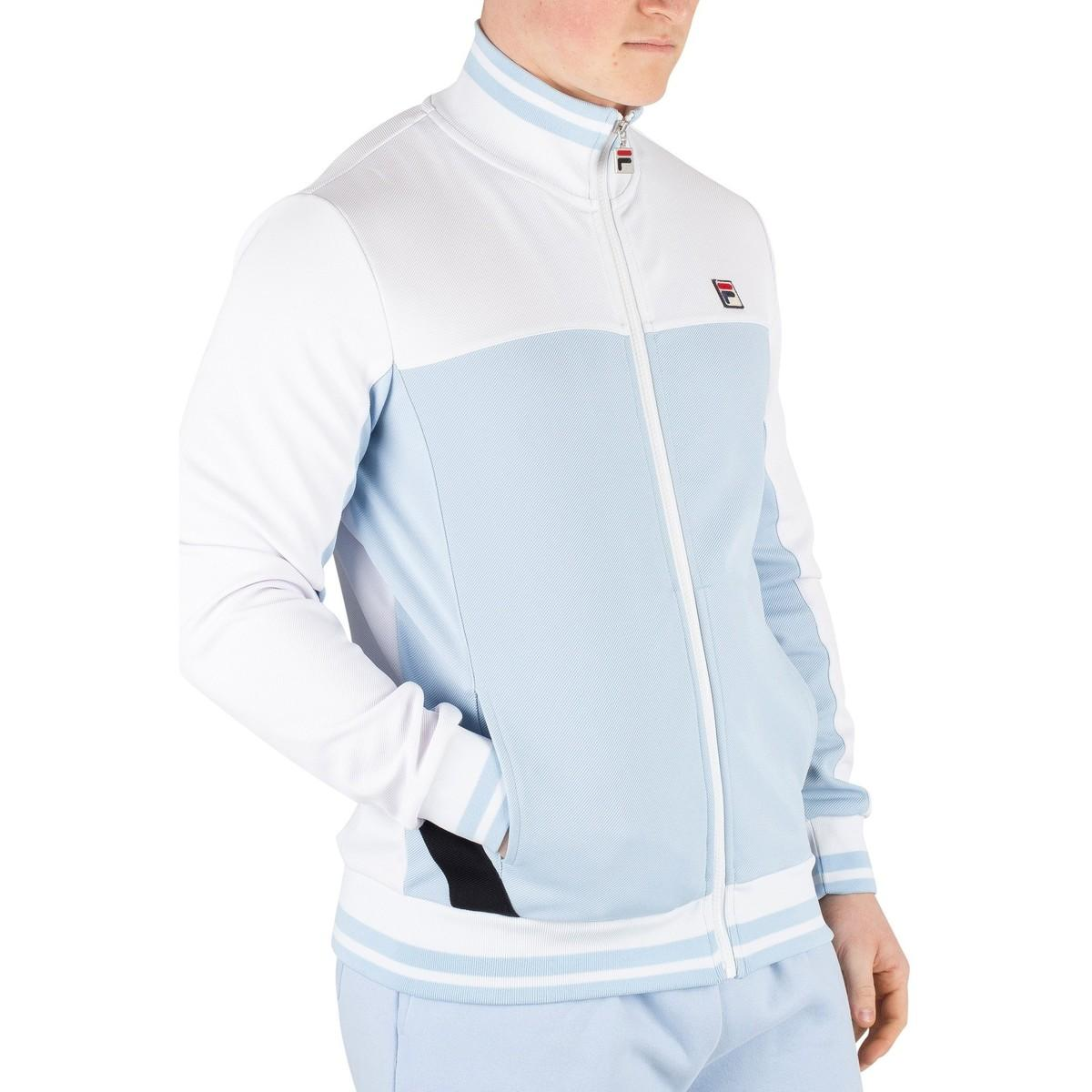 40fe1ecb Fila - Men's Tiebreaker Funnel Neck Track Jacket, Blue Men's Jacket In Blue  for Men. View fullscreen