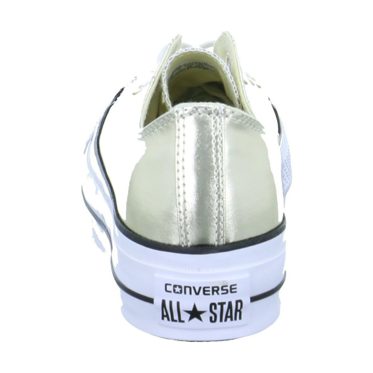 Converse Ct As Lift Ox Men's Shoes (trainers) In Silver in Metallic for Men