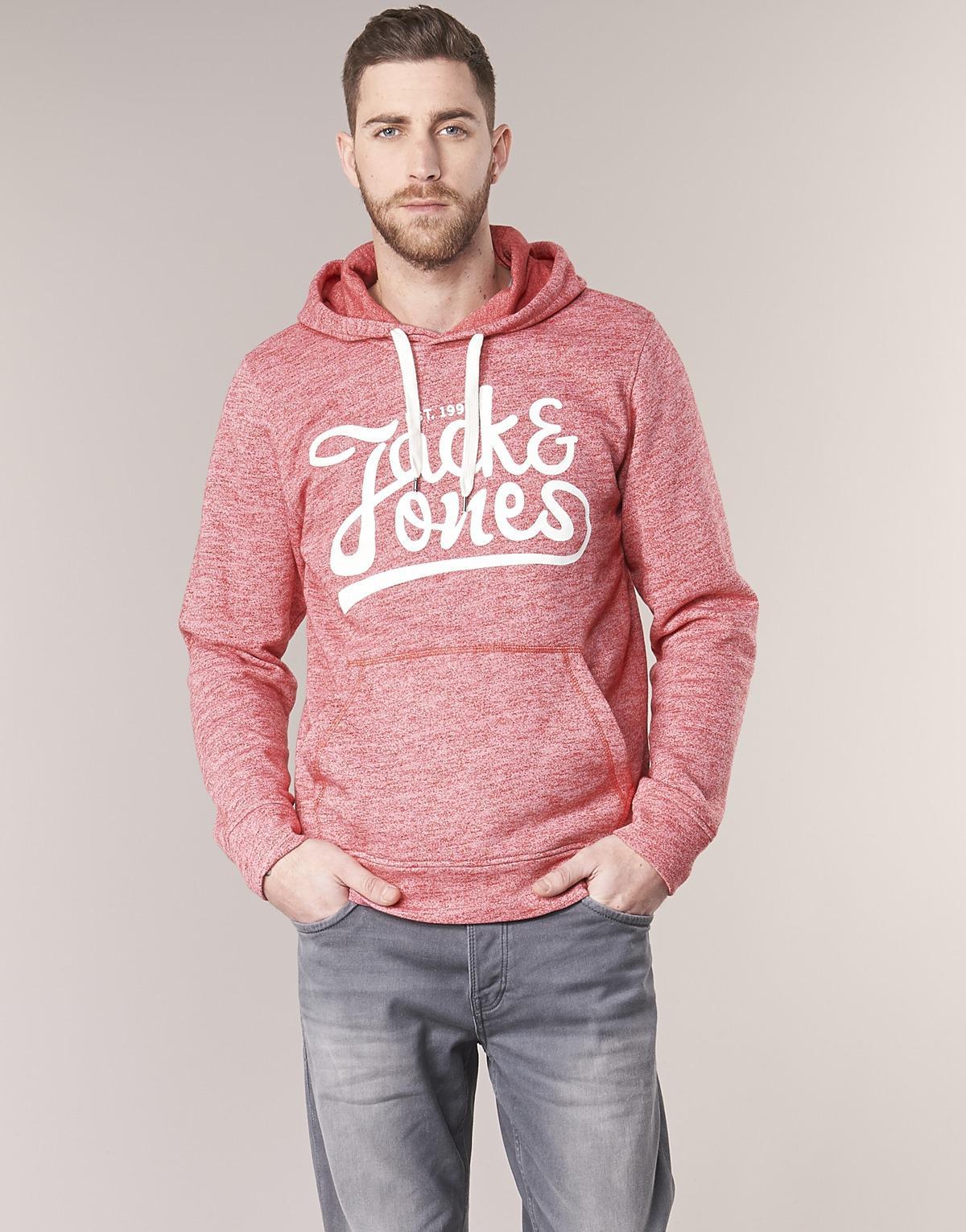 a066aa579fb0 Lyst - JORPANTHER hommes Sweat-shirt en rouge Jack   Jones pour homme en  coloris Rouge - 28 % de réduction