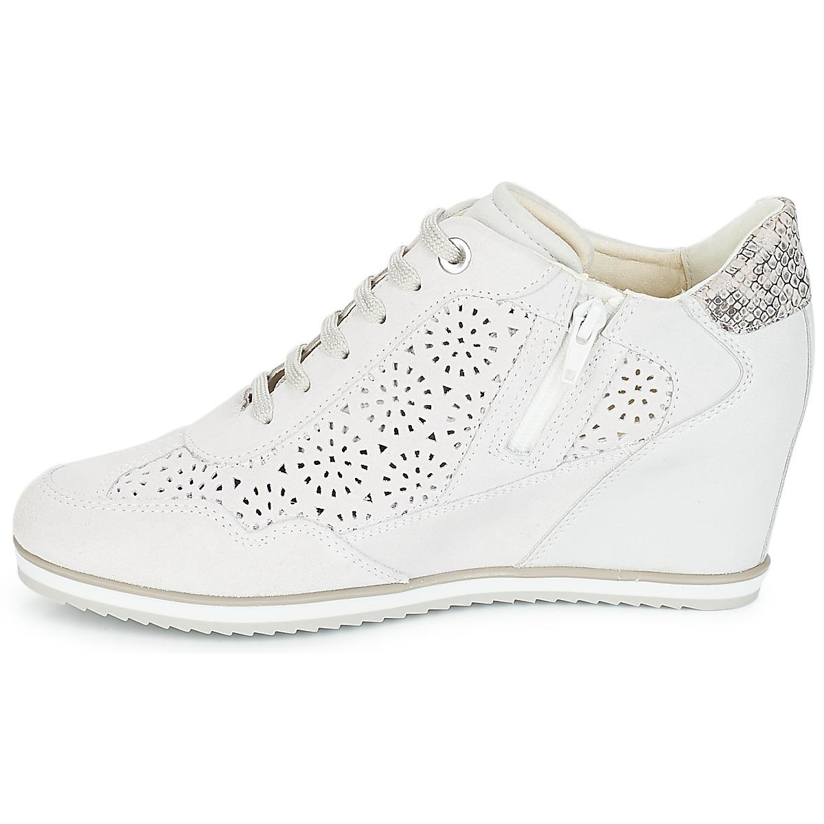Geox D Illusion Women's Shoes (high-top Trainers) In White