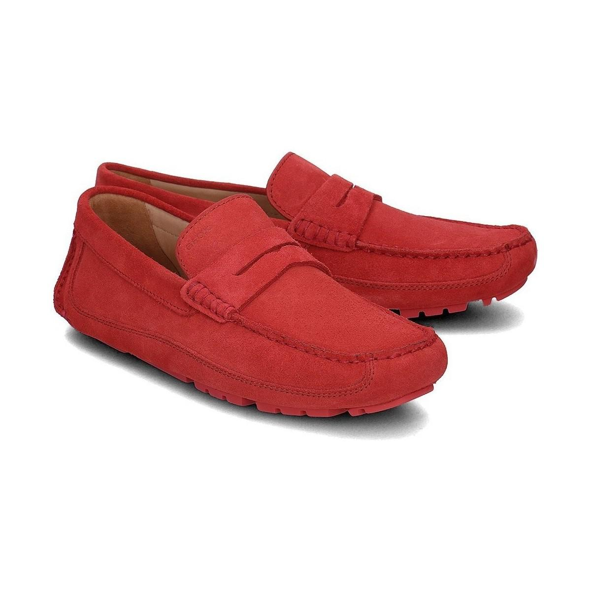 9ee33d5b9b3 Geox Melbourne Men s Loafers   Casual Shoes In Red in Red for Men - Lyst