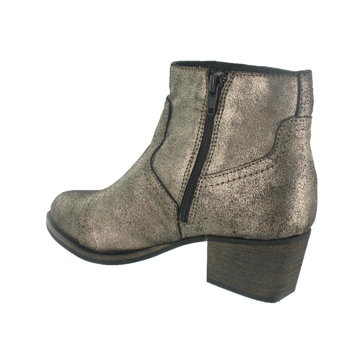 Marta Jonsson Leather Ankle Boots in Gold (Metallic)