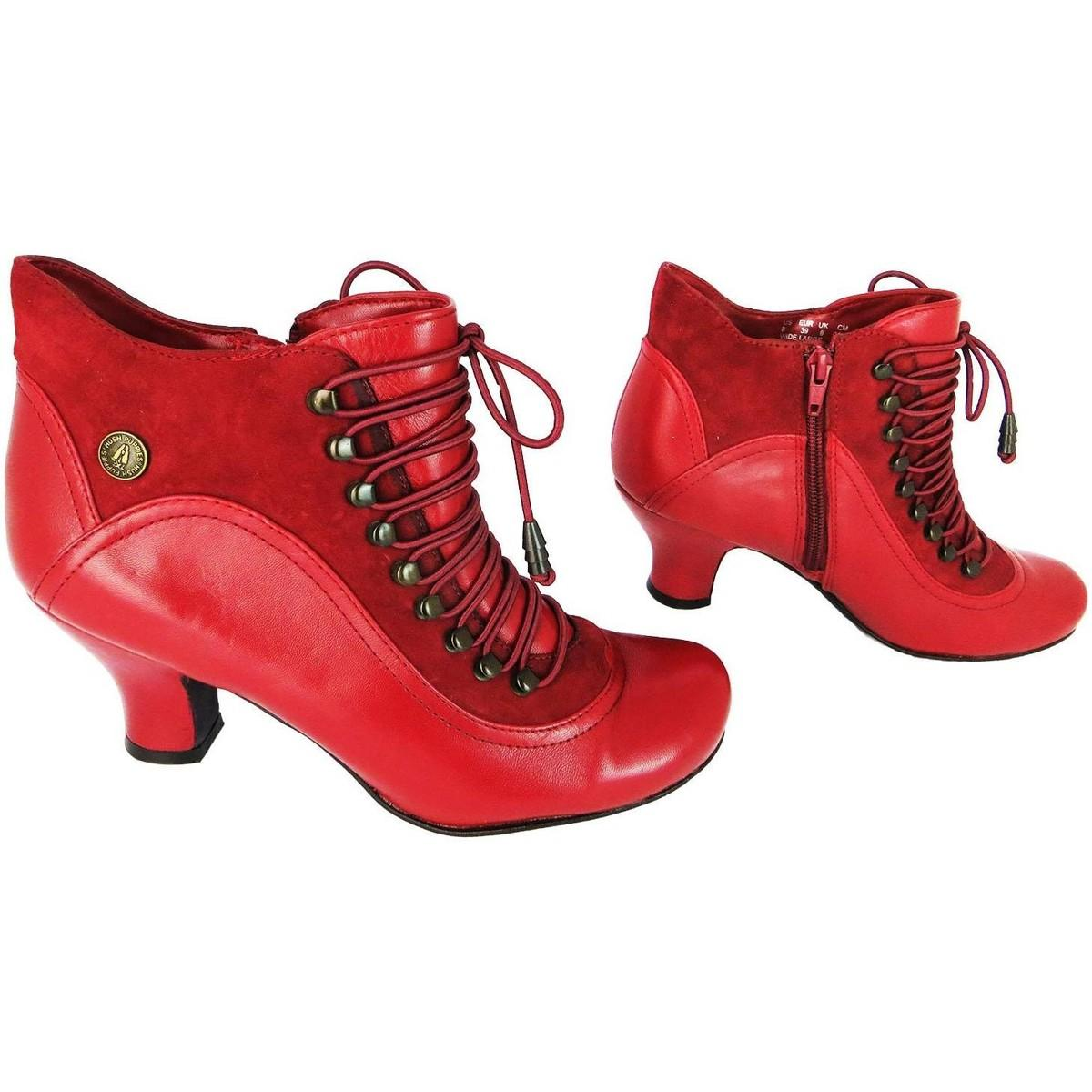 Hush Puppies Leather Vivianna Women's Low Ankle Boots In Red