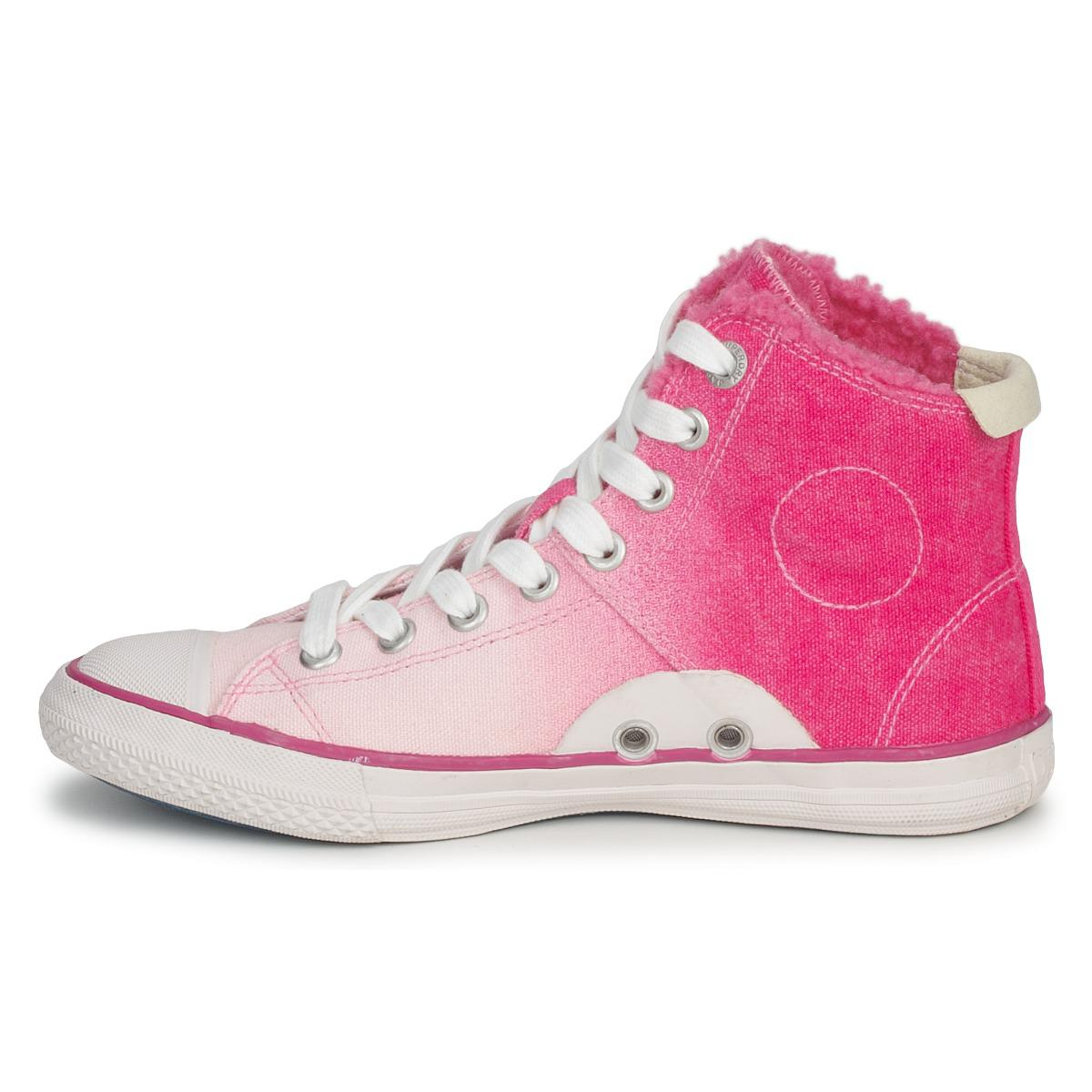 Superdry Super Series High Women's Shoes (high-top Trainers) In Pink