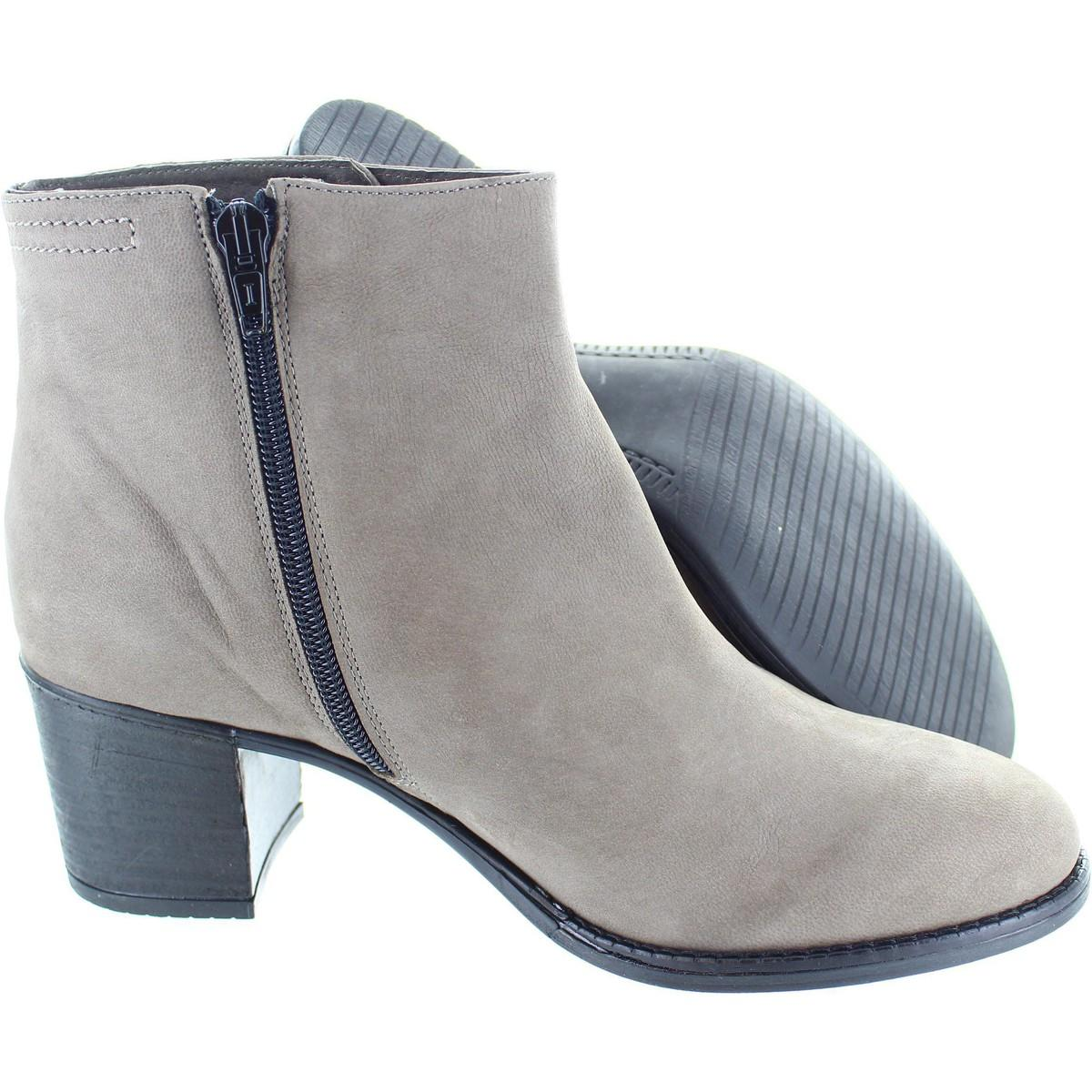 Cara London Leather Sensei Women's Low Ankle Boots In Grey in Grey