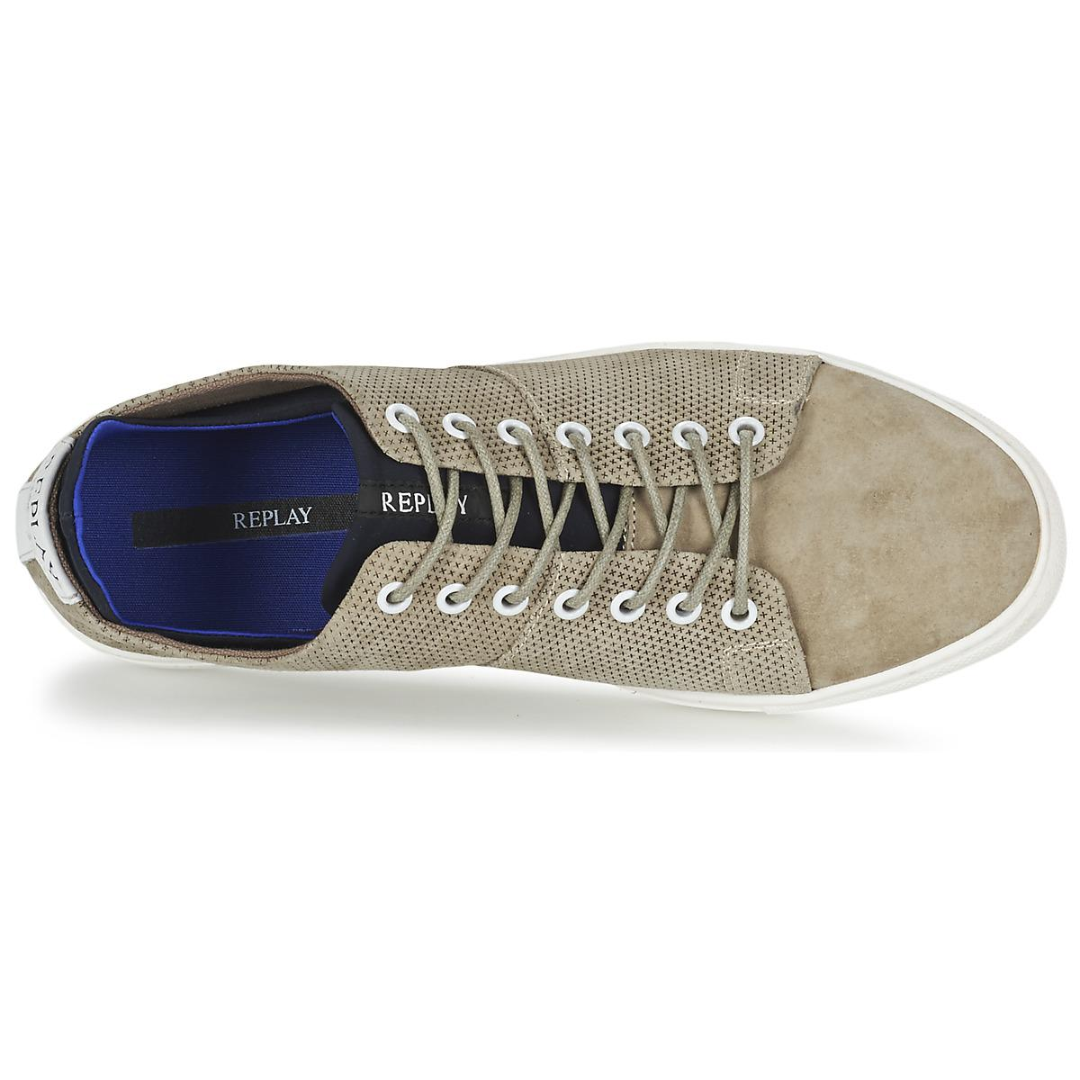 Replay Leather Greybull Men's Shoes (trainers) In Beige in Natural for Men