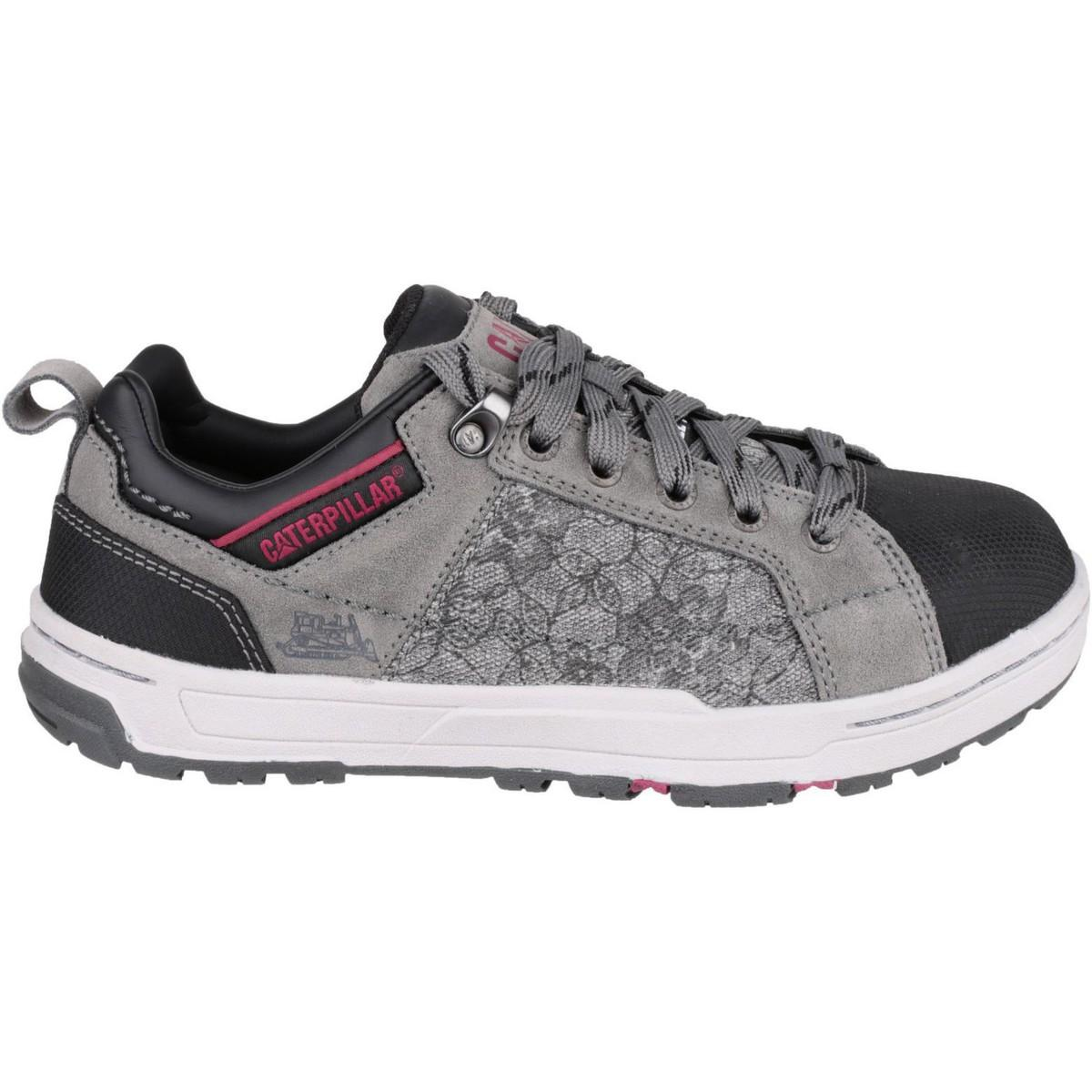 Caterpillar Leather Cat Brode Trainer Men's Shoes (trainers) In Grey in Grey for Men
