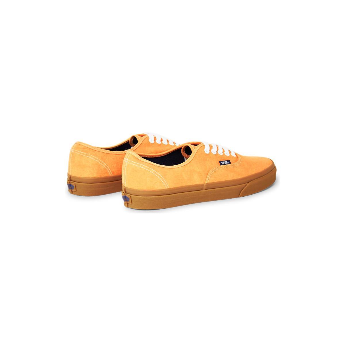 Vans Authentic Gum Plimsolls Yellow Men's Shoes (trainers) In Yellow for Men