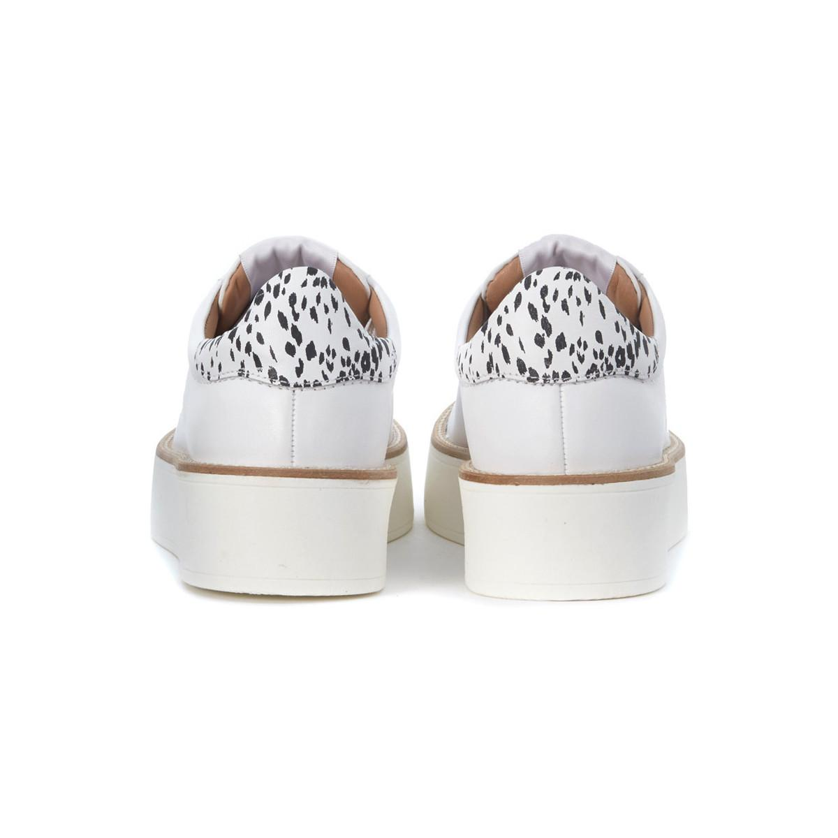 Twin Set Twinset White Leather Sneaker Women's Trainers In White