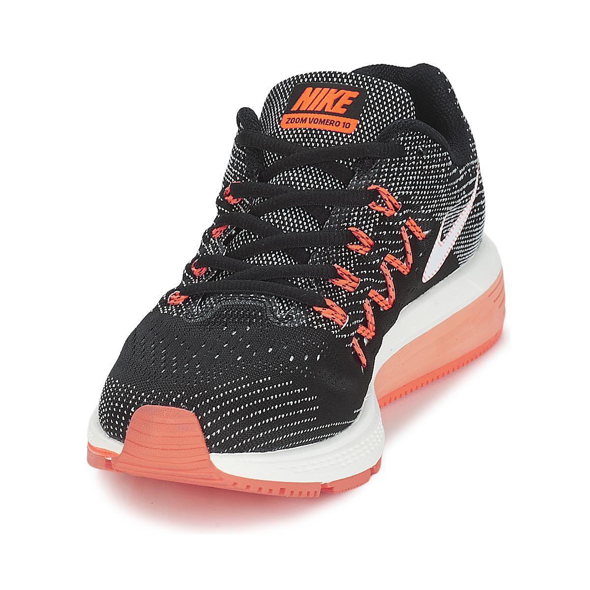 best service 35380 228eb Nike Air Zoom Vomero 10 W Running Trainers in Black - Lyst