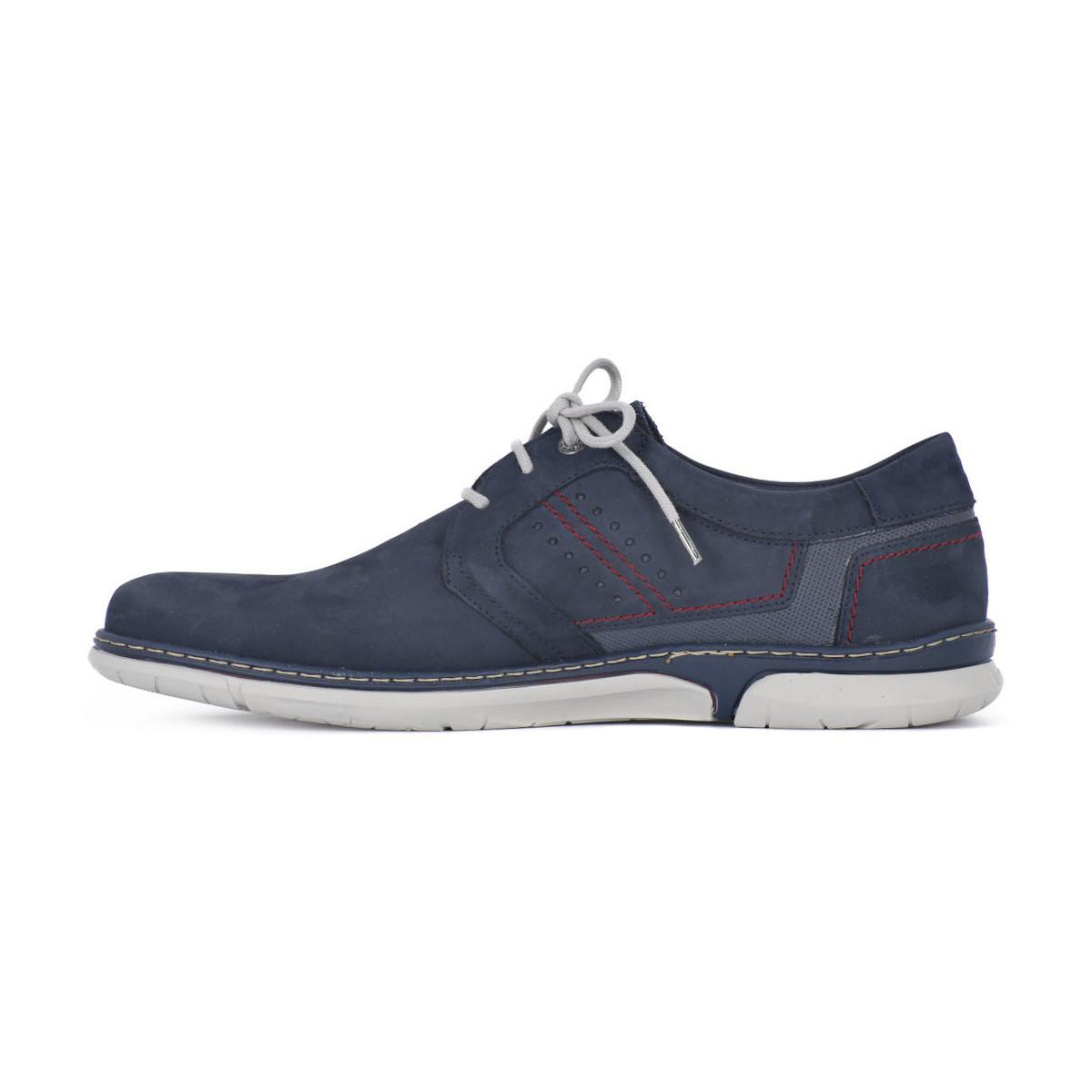 Fluchos Creta Vacheta Marino Men's Casual Shoes In Blue for Men