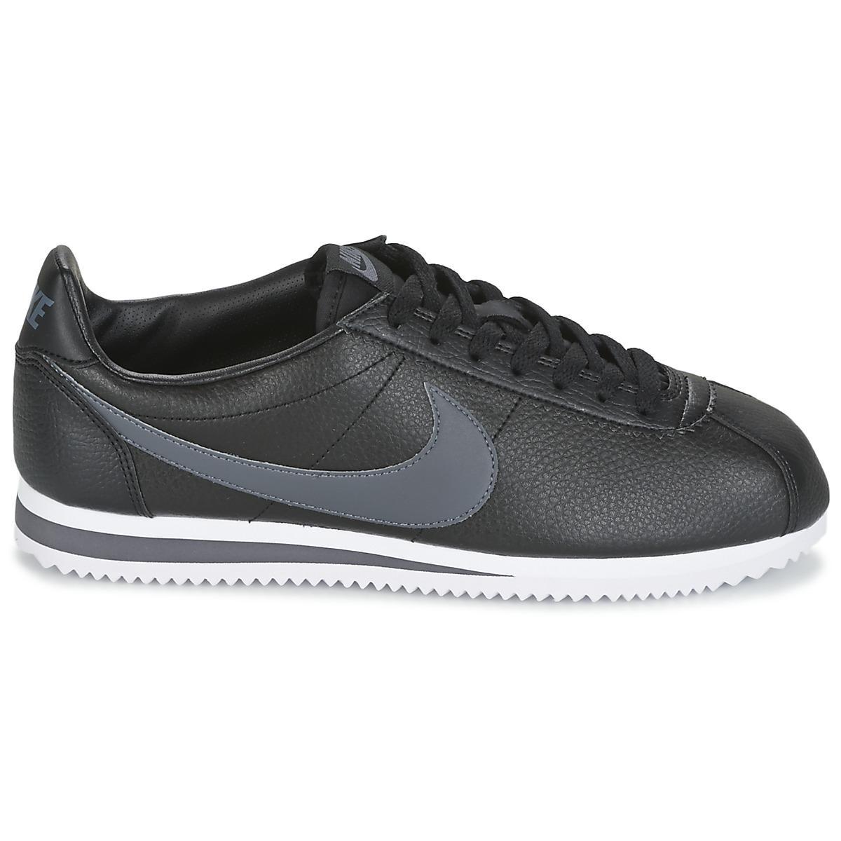 Nike Lage Sneakers Classic Cortez Leather in het Zwart voor heren
