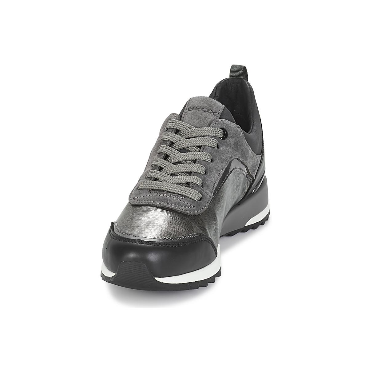 Geox Gray D Aneko B Abx Women's Shoes (trainers) In Grey