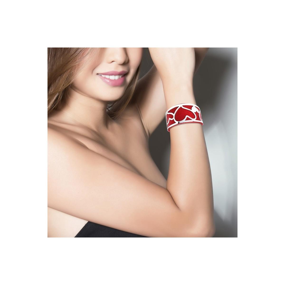 Bracelets B1327-ROUGE Sc Crystal en coloris Rouge B6qF
