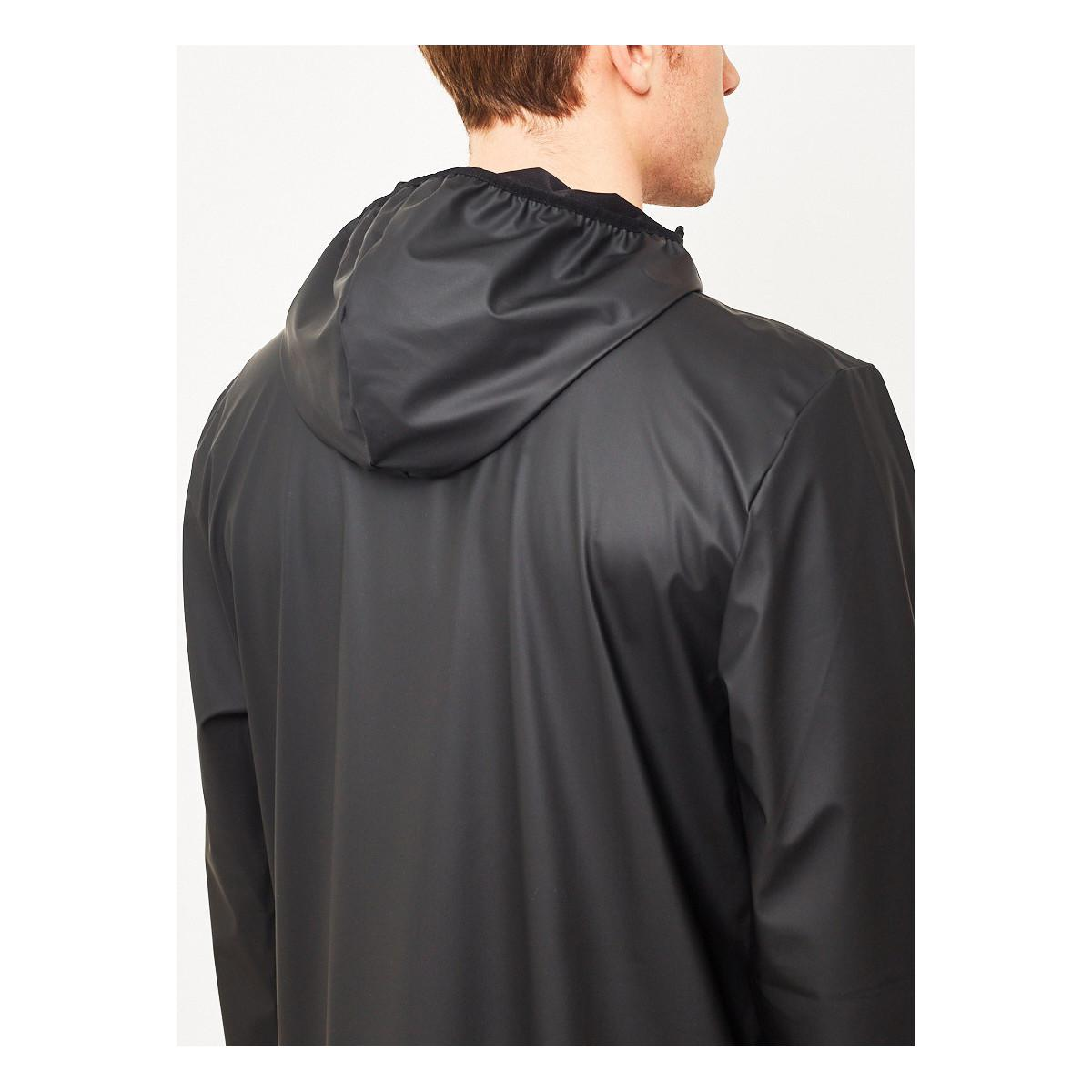 Rains Base Jacket Long Black Men's Windbreakers In Black for Men