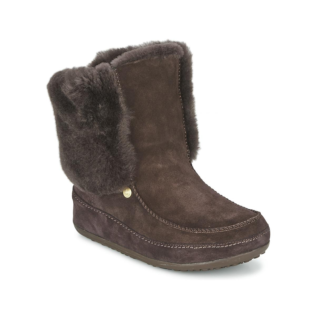 008530b3c1e845 Fitflop Mukluk Moctm Cuff Women s Low Ankle Boots In Brown in Brown ...