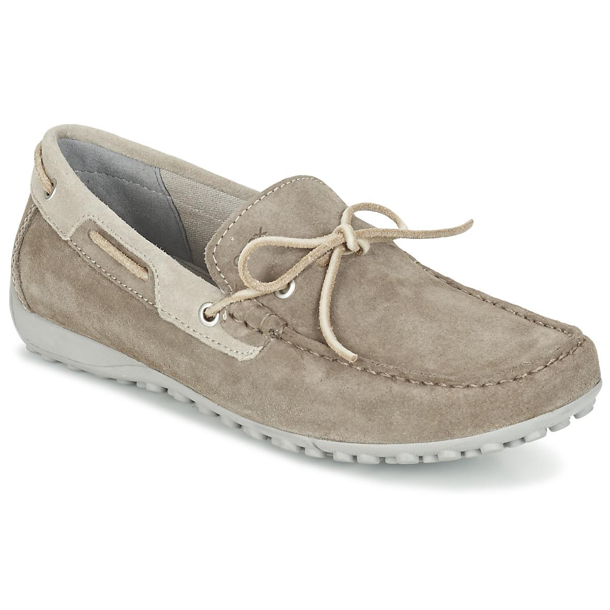 Geox U Snake Moc I Men s Loafers   Casual Shoes In Grey in Gray for ... e015f2343219