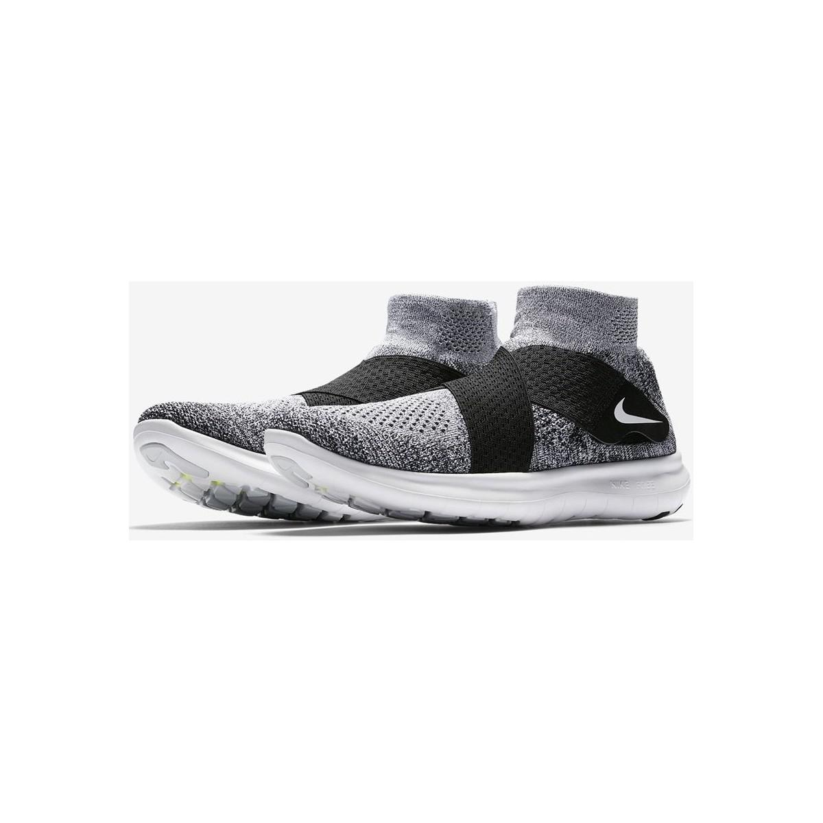 Nike Free Rn Motion Flyknit 2017 880845 001 Men's Shoes (trainers) In White for Men