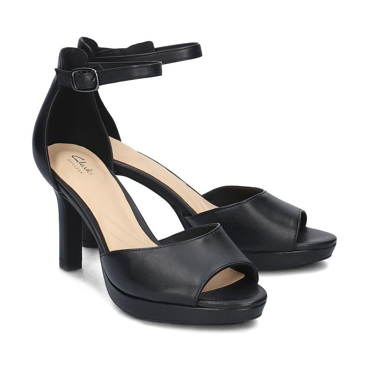 b227dd1058e Clarks Mayra Dove Women s Sandals In Black in Black - Lyst
