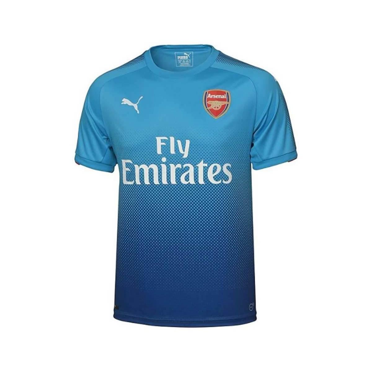 PUMA. 2017-2018 Arsenal Away Shirt (welbeck 23) - Kids Men s T Shirt In  Black 1f5c4f460