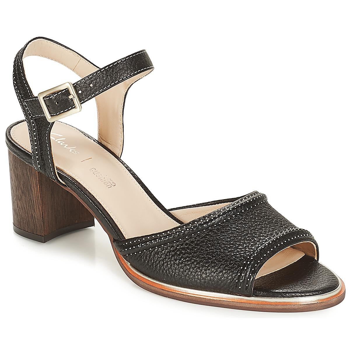07eaaed3e5e0 Clarks Ellis Clara Women s Sandals In Black in Black - Lyst