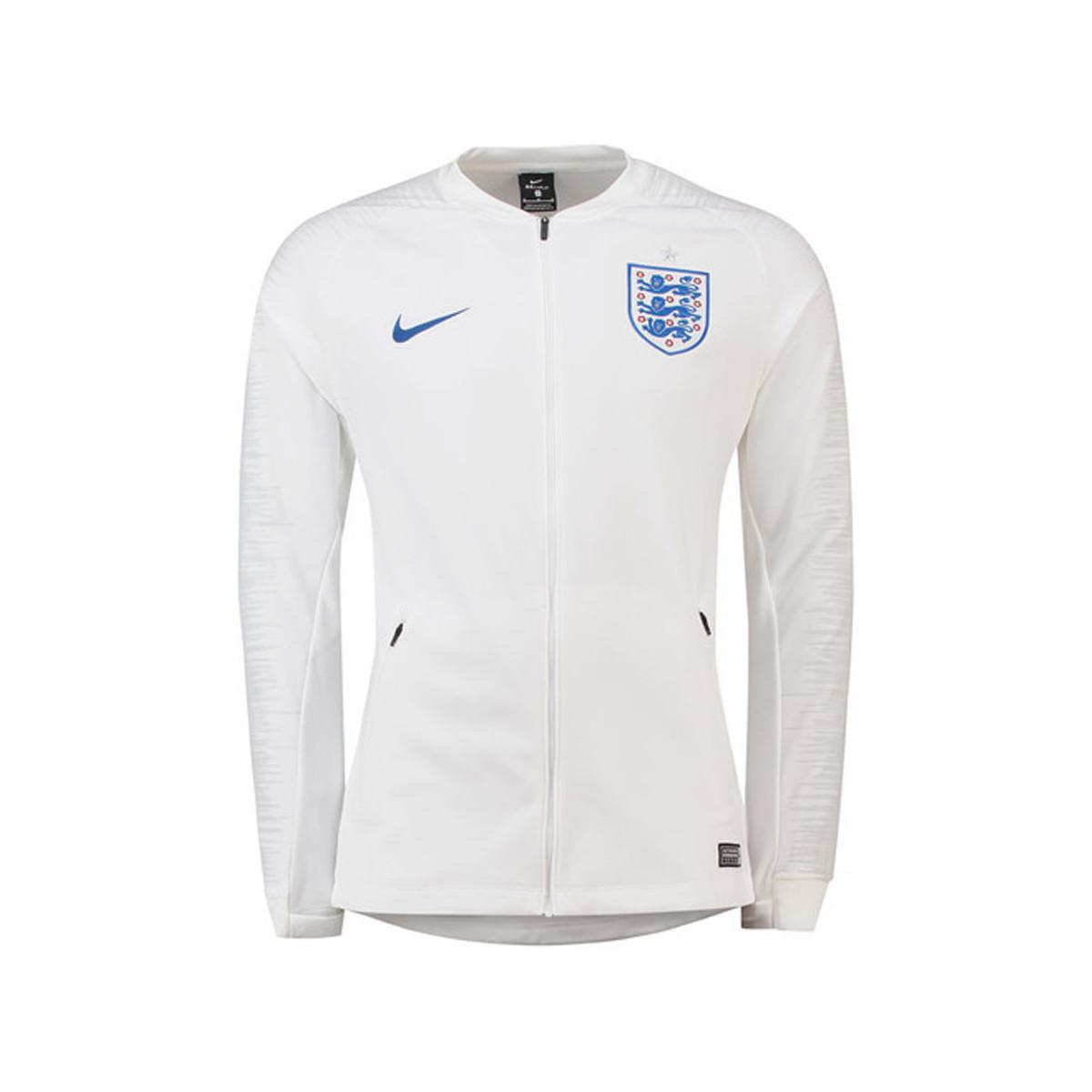 1cc070df28 Nike 2018-2019 England Anthem Jacket Men s Sweatshirt In White in ...