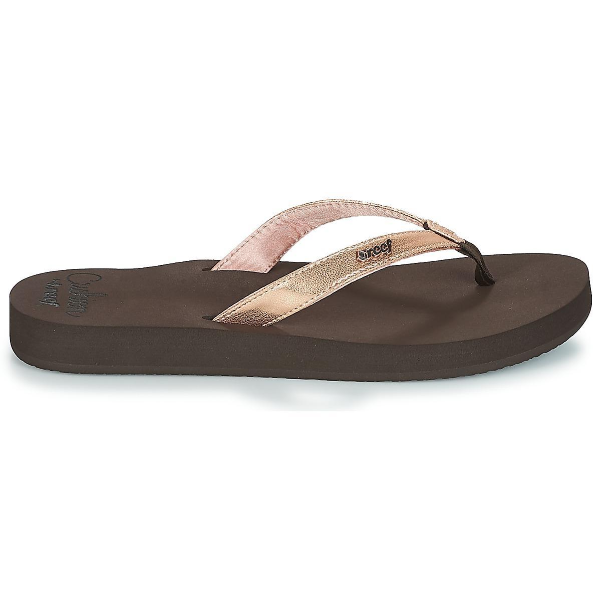 23ee0feaf27d Reef Cushion Luna Flip Flops   Sandals (shoes) in Brown - Lyst