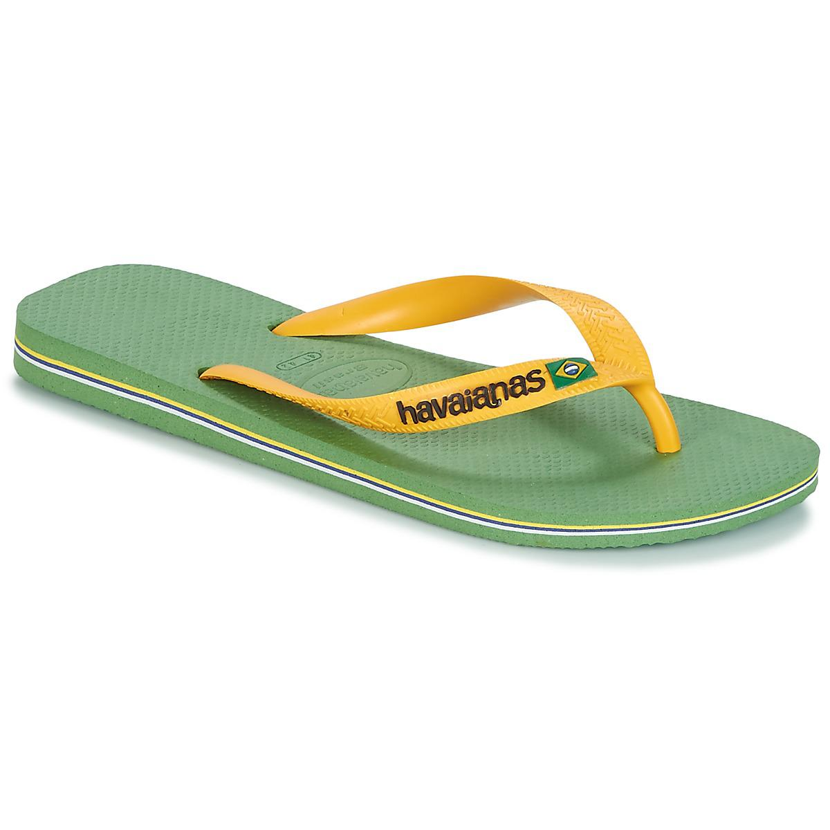 438bf528082b4 Havaianas - Brazil Logo Men s Flip Flops   Sandals (shoes) In Green for  Men. View fullscreen