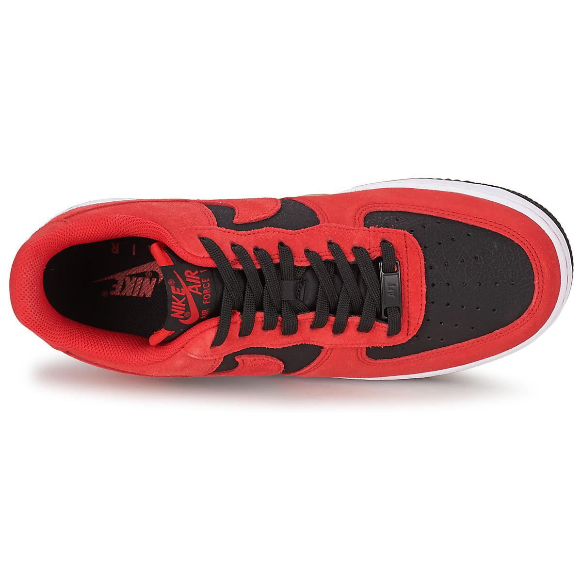 Nike Leather Air Force 1 Men's Shoes (trainers) In Red for Men