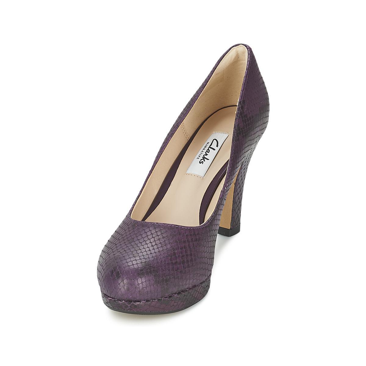 38e30c66fa8 Clarks - Crisp Kendra Women s Court Shoes In Purple - Lyst. View fullscreen