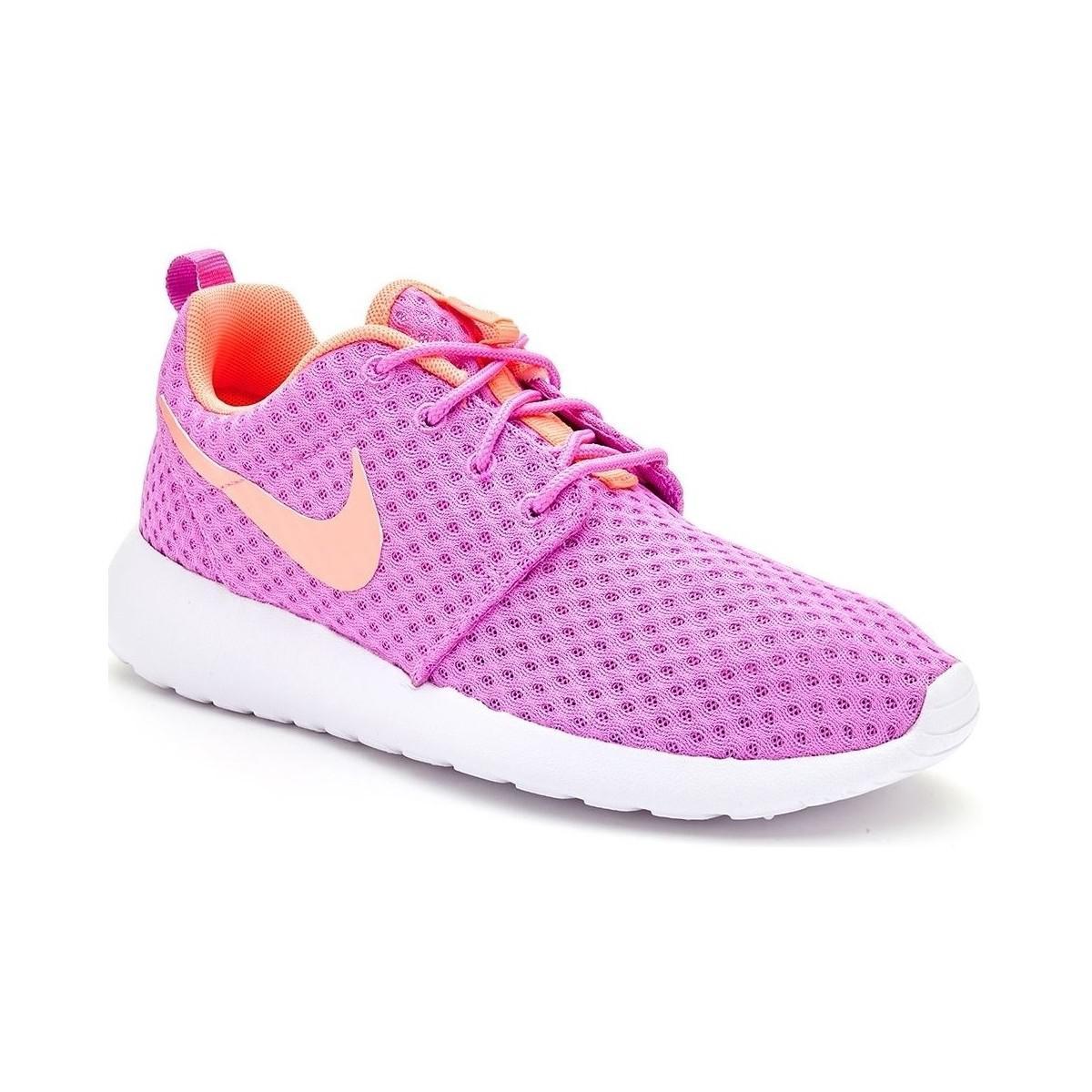 a6cc2f2ffa00b Nike Roshe Run One Br Women Trainers In Fuchsia Glow Lava Glow 724 ...