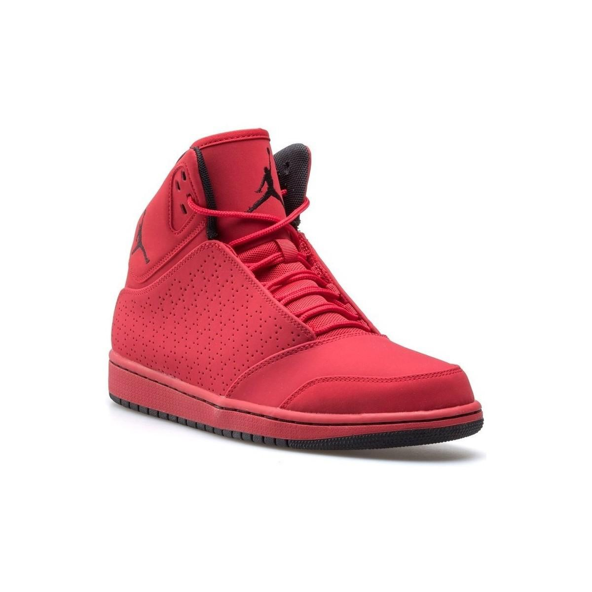 3ca513a092 Nike Jordan 1 Flight 5 Men s Shoes (high-top Trainers) In Red in Red ...