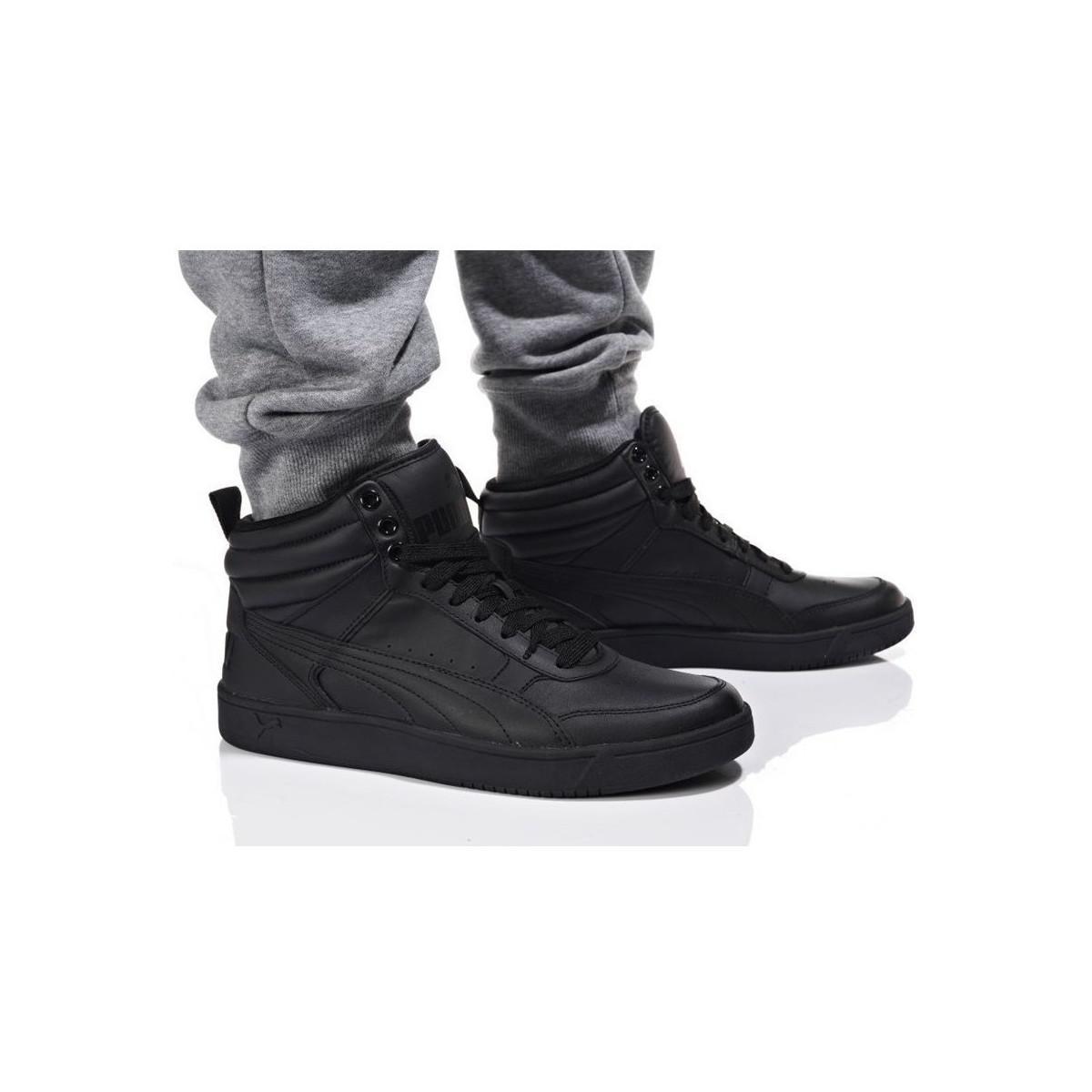 In Puma Black Top Rebound Shoes V2 Men's Street high L Trainers BqzFxvBrw