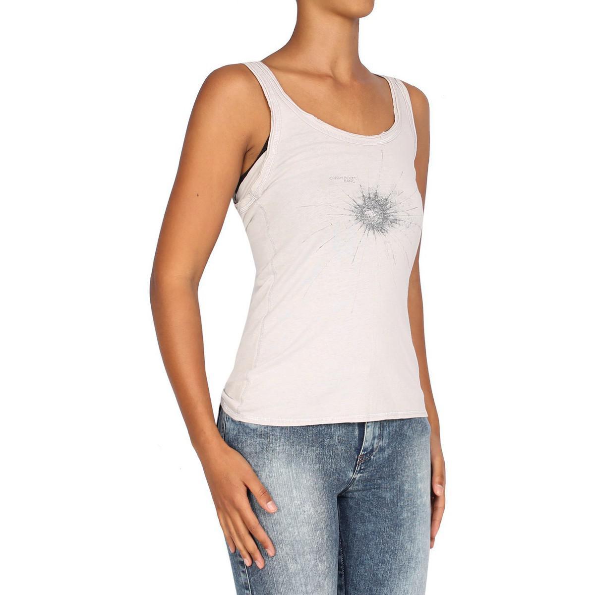 Pepe Jeans Denim - Women's Tank Top Merle Women's Vest Top In Grey in Grey
