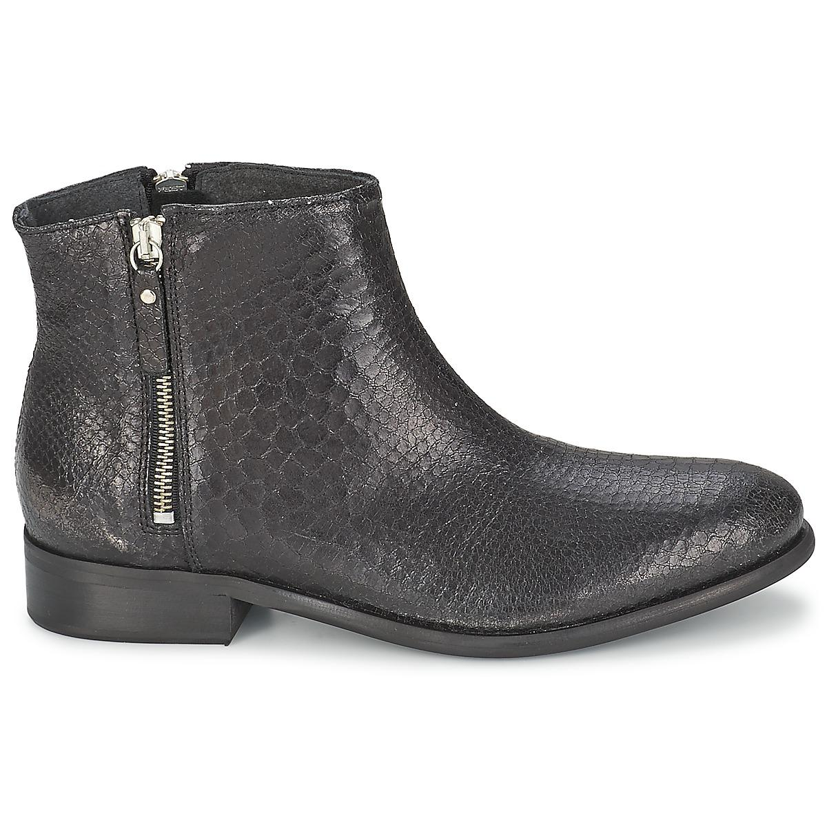 Nome Footwear Leather Makiko Chic Women's Mid Boots In Black