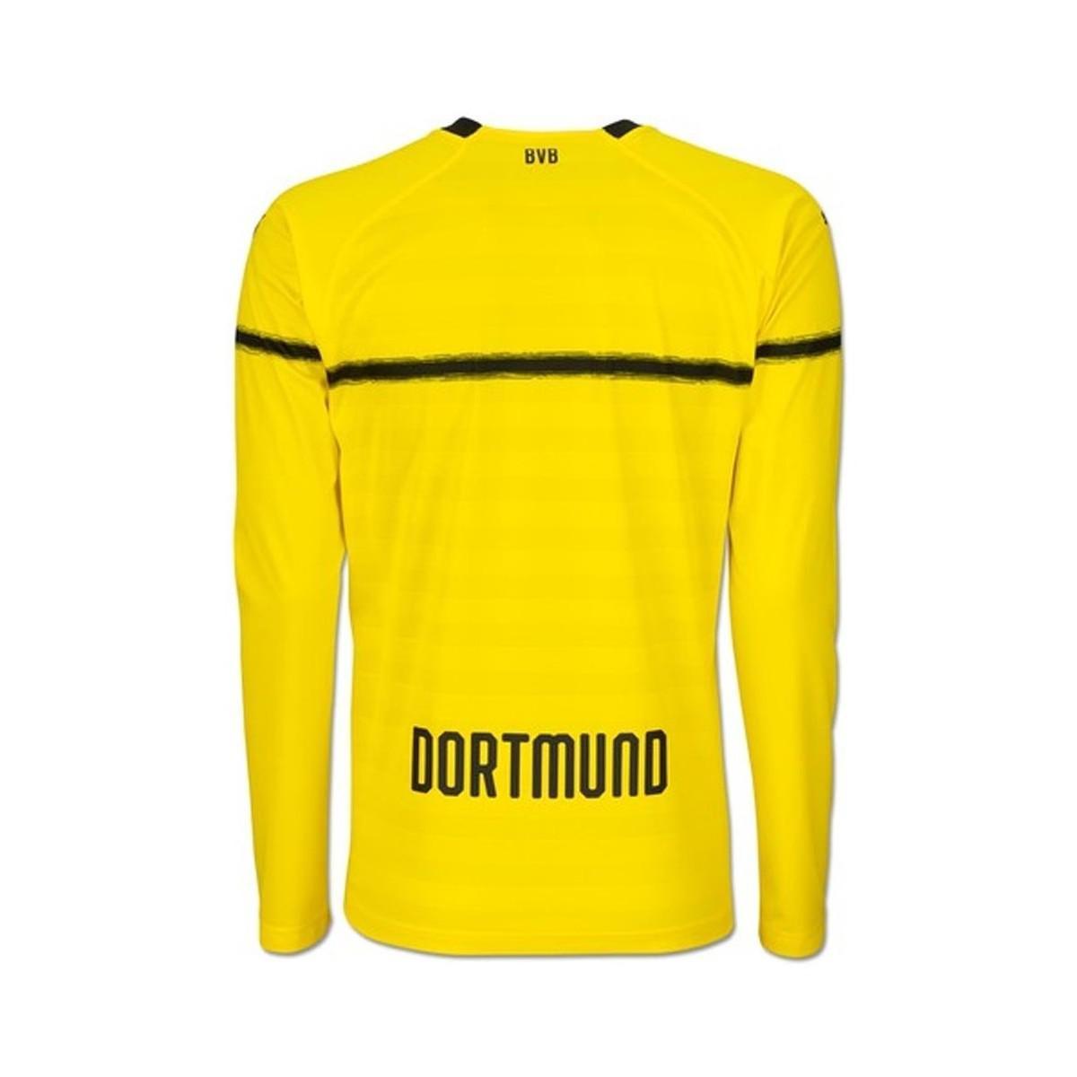 0d12e5c1eed8 PUMA 2018-2019 Borussia Dortmund Home Ucl Long Sleeve Shirt Women s ...