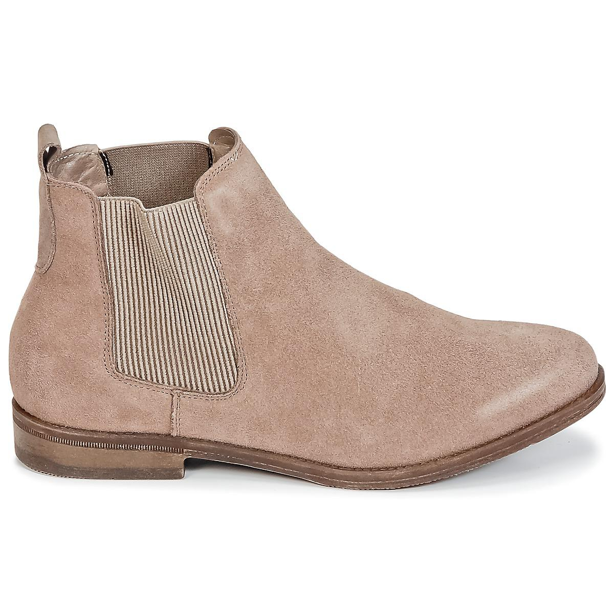Wildflower Leather Ease Women's Mid Boots In Beige in Natural