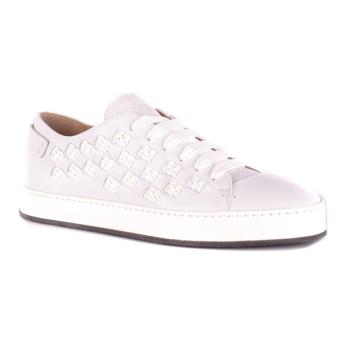 BASKETS HOMME Chaussures Santoni pour homme en coloris Blanc QXNk