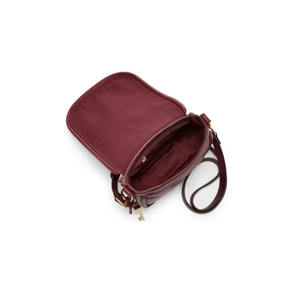 Petite Rouge Rumi Red Fossil Bordeaux Femmes En Cuir Coloris Zb7274216 Bandouliere Besace Sac uTK31cFJl