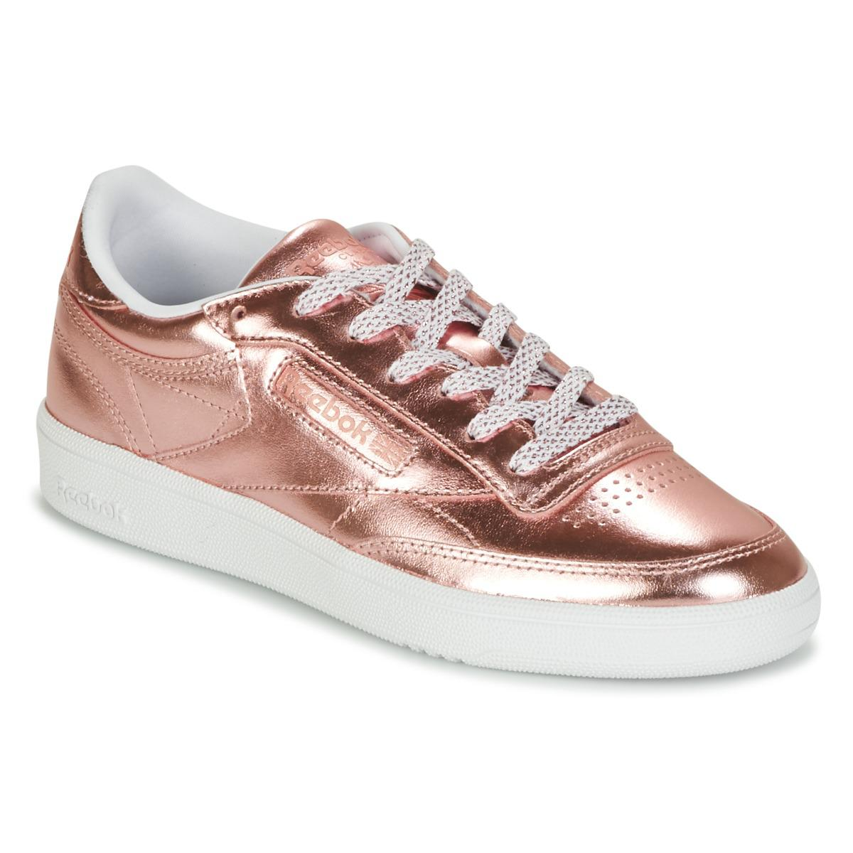 d9c26d40eb8ddc Reebok Club C 85 S Shine Women s Shoes (trainers) In Pink in Pink ...