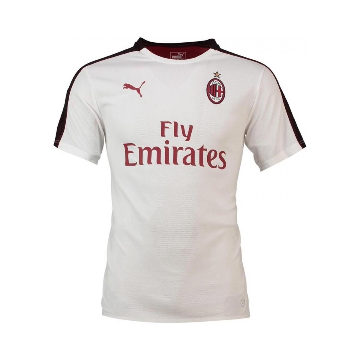 Adidas 2018-2019 Ac Milan Stadium Jersey Women's T Shirt In White