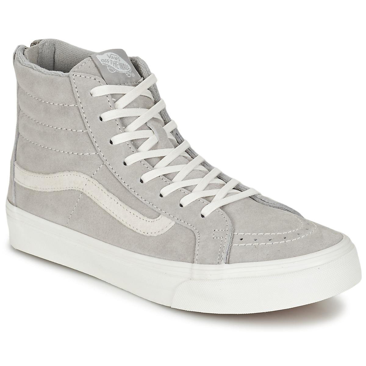8e7e22bb2a4852 Vans - Gray Sk8-hi Slim Zip Women s Shoes (high-top Trainers). View  fullscreen