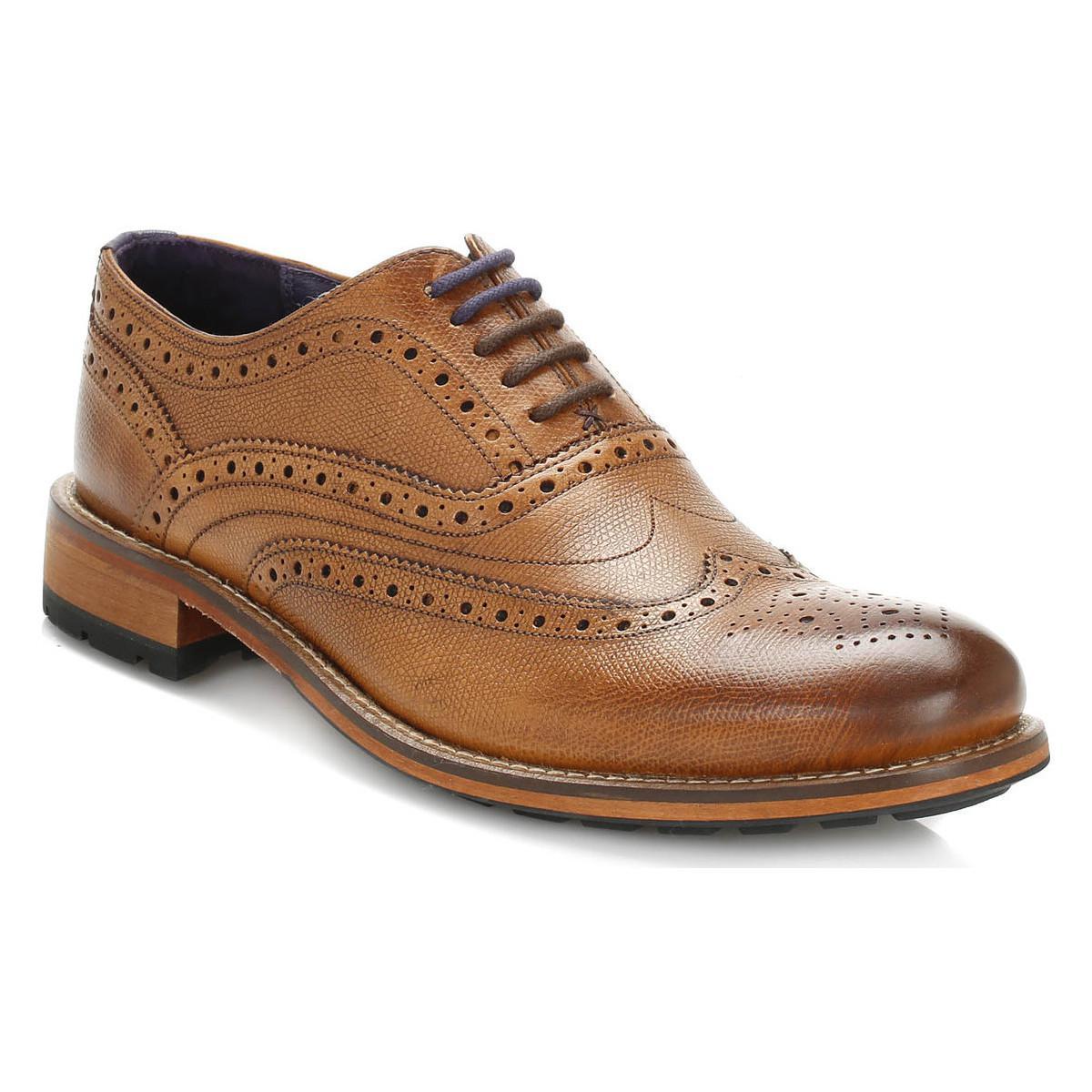 6a77354948325e Ted Baker Mens Tan Guri 8 Leather Brogue Shoes Men s Smart   Formal ...